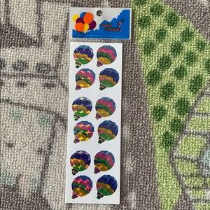 Holographic Shiny Hot Air Balloon Stickers